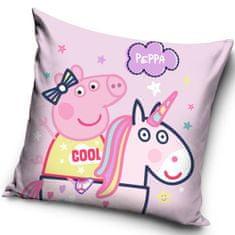 """SETINO Poduszka dla dziewczynki """"Świnka Peppa"""" - 40x40cm - różowy"""