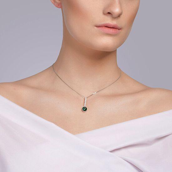 Preciosa Naszyjnik srebrny z cyrkoniami Lucea 5296 66 (Łańcuch,wisiorek ) srebro 925/1000