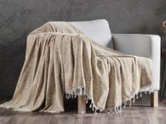 Denizli Concept Cienka narzuta na łóżko FLEXI kolor jasnobeżowy 180x230 cm.