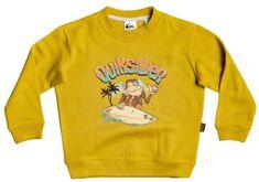 Quiksilver bluza dziecięca Champ chimp crew K Otlr Ylv0, 3 musztardowa