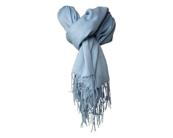 ORSI Dámská šála pašmína 68x180 sv.modrá