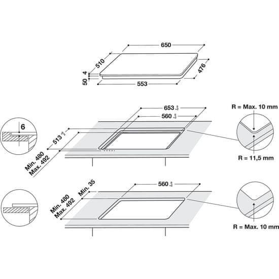 Whirlpool indukcijska plošča WF S2765 NE / IXL