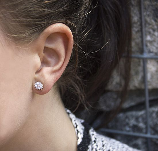 Beneto Ezüst fülbevalók cirkóniával AGUP1607S