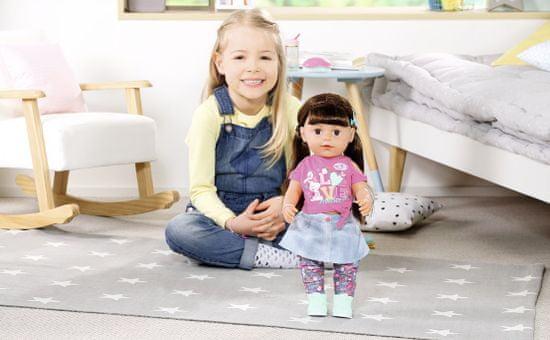 BABY born lalka starsza siostra Soft Touch, brunetka, 43 cm