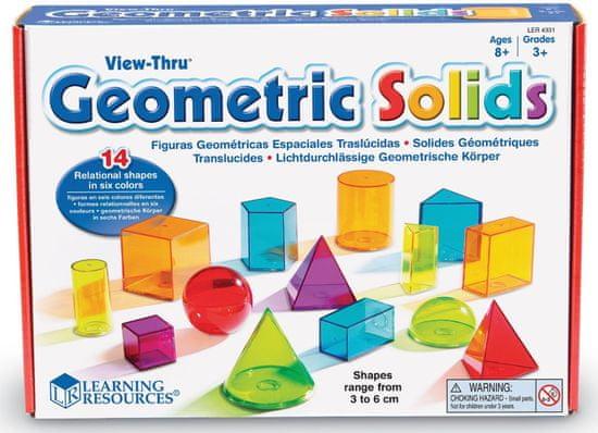 Montessori Átlátszó színes geometriai testek