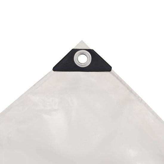 shumee Zaščitna ponjava 650 g/m² 3x6 m bela