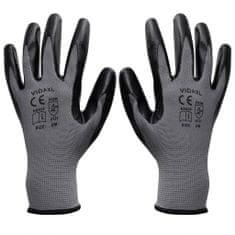 shumee Delovne rokavice, nitril, 1 par, sive / črne, velikost 9 / L