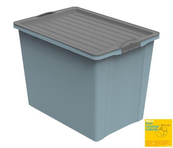 Rotho škatla s pokrovom A3 COMPACT 2, s kolesi, 70 l