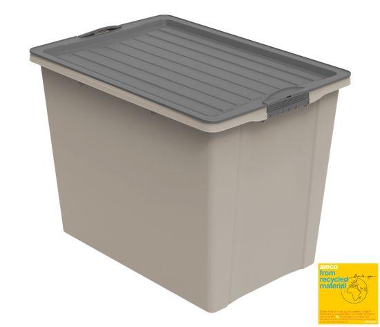 Rotho škatla s pokrovom A3 COMPACT 3, s kolesi, 70 l