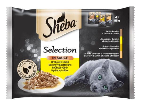 Sheba kapsičky pro kočky drůbeží výběr ve šťávě 52 x 85 g
