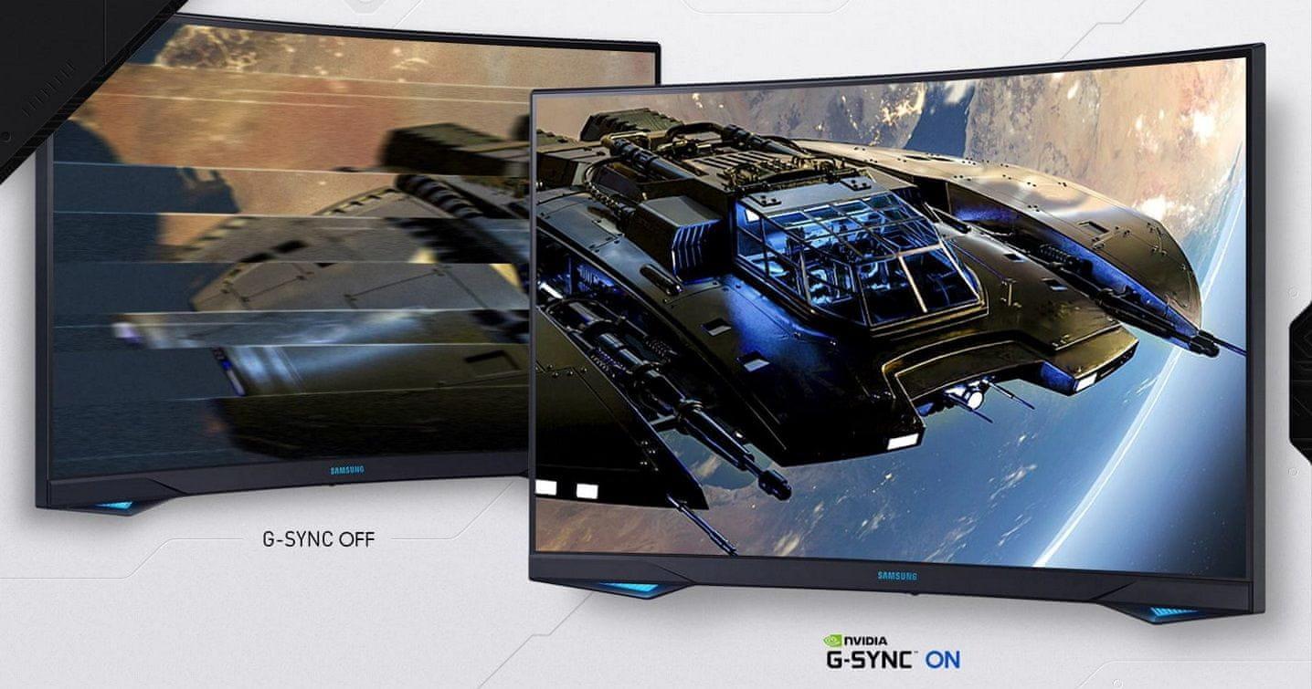monitor Samsung Odyssey G7 (LC27G75TQSUXEN) synchronizace fps