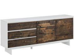 Danish Style Komoda Morgen, 165 cm, hnedá