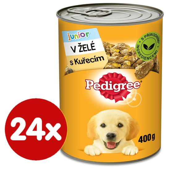 Pedigree Konzerva s kuracím v želé pre šteňatá 24x400 g