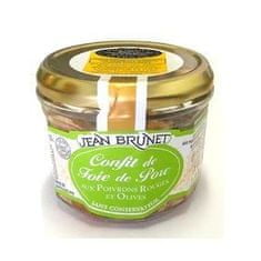 Jean Brunet Confit z bravčovej pečene s paprikou a olivami, 180g