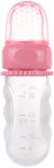 Canpol babies tubka do karmienia, silikonowa, z pojemnikiem, różowa