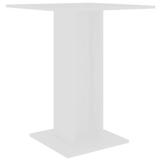 Greatstore Bistro stolek bílý 60 x 60 x 75 cm dřevotříska