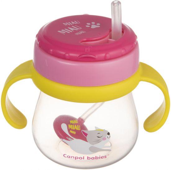 Canpol babies Hrníček sportovní se slámkou a závažím 250 ml