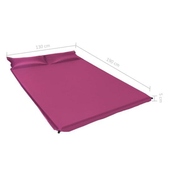 shumee Napihljiva vzmetnica z blazino 130x190 cm roza