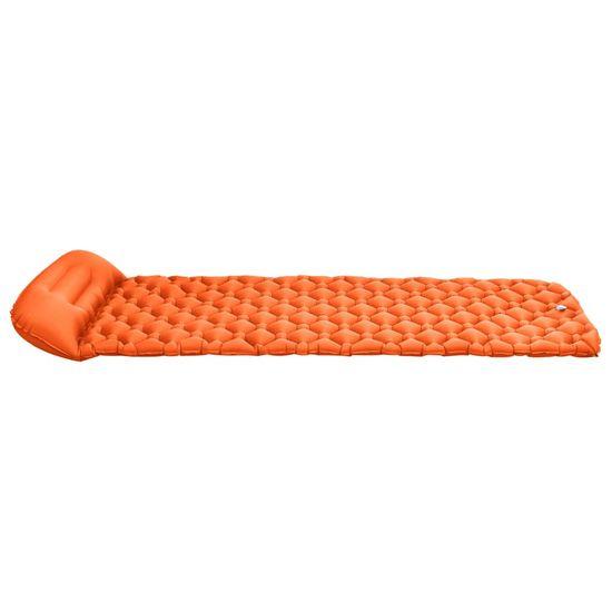 shumee Napihljiva vzmetnica z blazino 58x190 cm oranžna