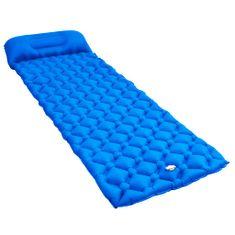 shumee Dmuchany materac z poduszką, 58x190 cm, niebieski