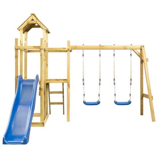 shumee Detské ihrisko+šmýkačka, hojdačka, rebrík 285x305x226,5 cm