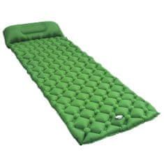 shumee Napihljiva vzmetnica z blazino 58x190 cm zelena