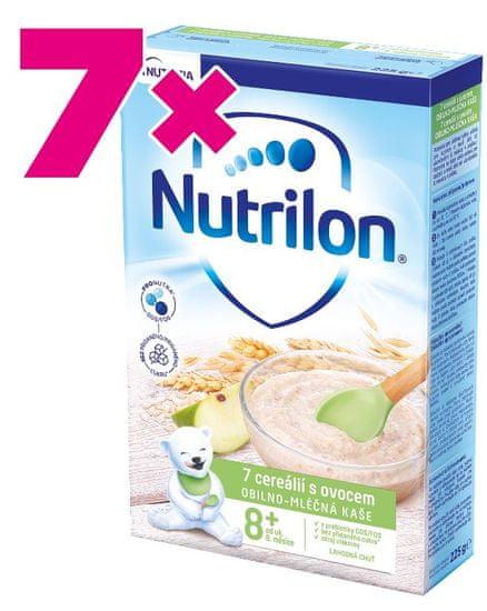 Nutrilon Pronutra Kaše 7 cereálií s ovocem 225g, 8+