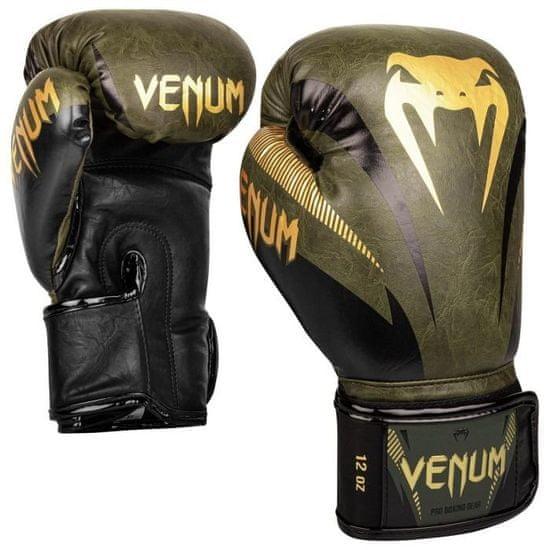 "VENUM Boxerské rukavice ""Impact"", kakhi/zlatá 12oz"