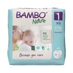 Bambo Nature 1, 22 ks, pro 2-4 kg