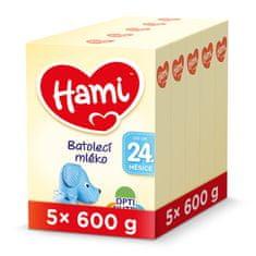 Hami 24+ batolecí mléko 5x 600 g