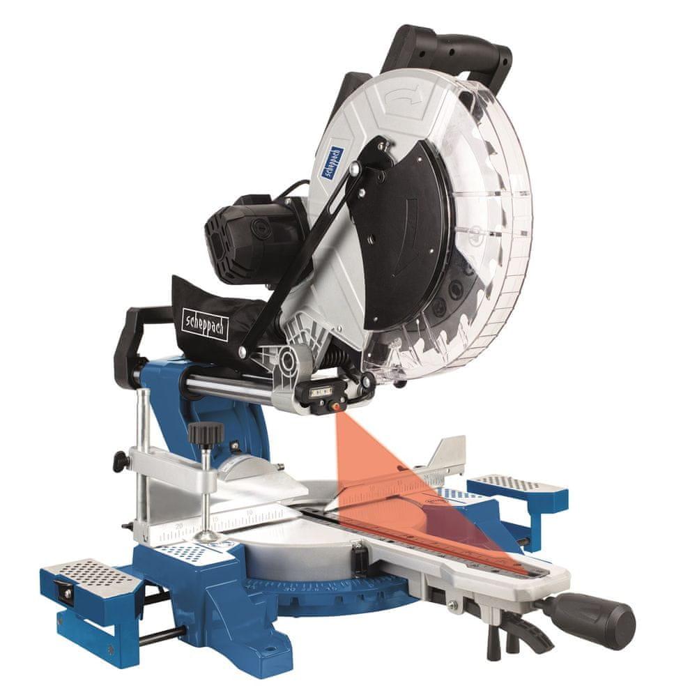 Scheppach HM 140 L Pokosová pila s potahem a laserem