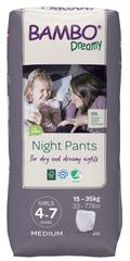 Bambo Nature pieluchomajtki nocne Night Pants Girl 4-7 years, 10 szt., od 15 do 35 kg