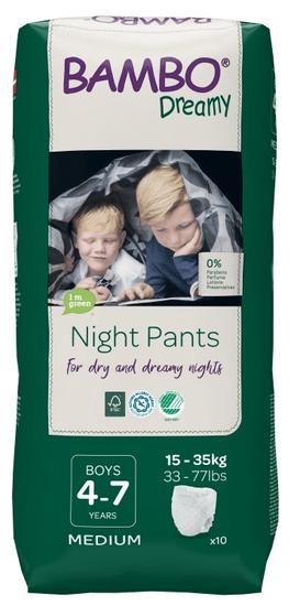 Bambo Nature pieluchomajtki night Night Pants Boy 4-7 years,10 szt.,od 15 do 35 kg