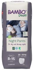 Bambo Nature Night Pants Girl 8-15 years, 10 ks, pro 35-50 kg