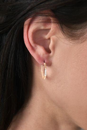 DKNY Stílusos nyolcszög alakú elegáns fülbevaló 5548748