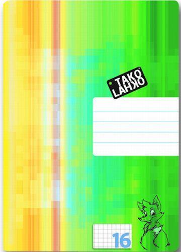 Tako Lahko A4 zvezek za šolske naloge, karo, 5 mm, 16 listov