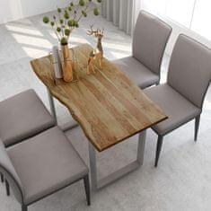 shumee Jídelní stůl 118 x 58 x 76 cm masivní akáciové dřevo