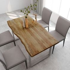 shumee Jídelní stůl 160 x 80 x 76 cm masivní akáciové dřevo