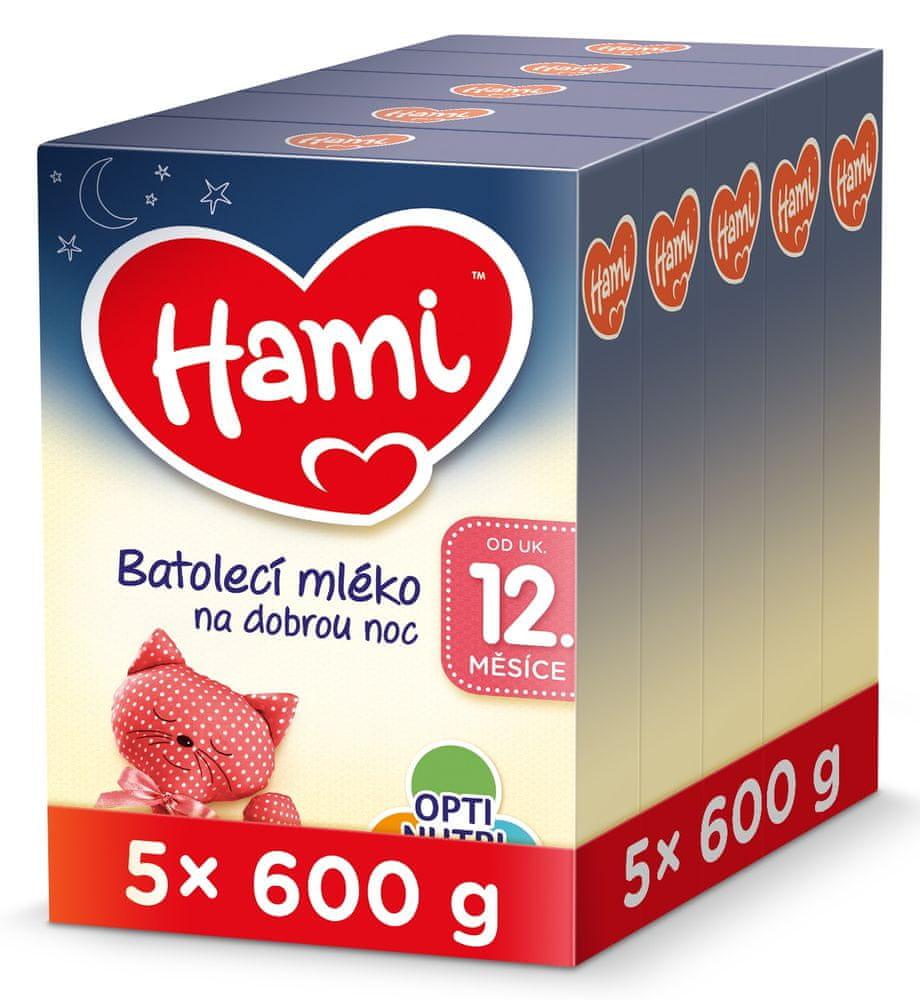 Hami 12+ batolecí mléko na dobrou noc 5x 600 g
