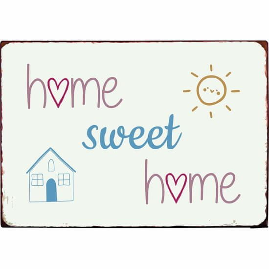 IB Laursen plechová cedulka Home sweet home