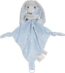 My Teddy Plyšový zajačik muchláčik - modrý