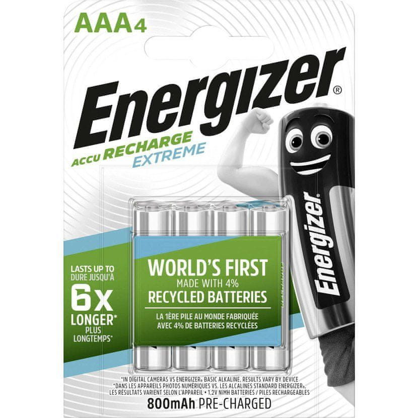Energizer Baterie AAA/HR03 800mAh ENERGIZER EXTREME 4ks (blistr)