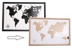 Sifcon Cestovateľská magnetická tabuľa s fixkou, 60x40 cm, prírodné