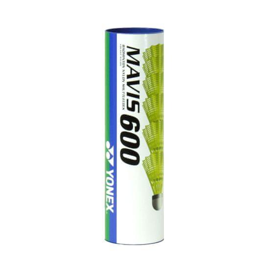 Yonex Mavis 600 6/1 badminton žogica, rumena, srednja