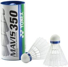 Yonex Mavis 350 3/1 badminton žogica, bela, srednja