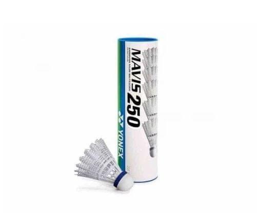 Yonex Mavis 250 6/1 badminton žogica, bela, srednja