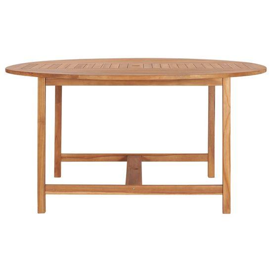 shumee Stół ogrodowy, 150x76 cm, lite drewno tekowe