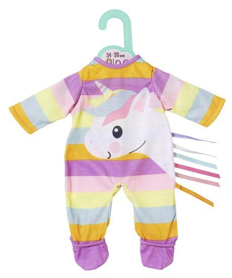 Zapf Creation ubranko dla lalki Dolly Moda Śpioszki z jednorożcem 36 cm