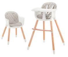 BABY TIGER krzesełko do karmienia feeding high chair Tini grey