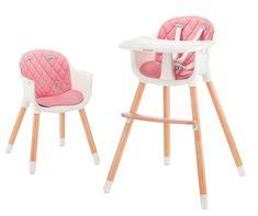 BABY TIGER krzesełko do karmienia feeding high chair Tini pink
